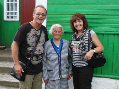 A goodbye photo with Leonarda in Naliboki