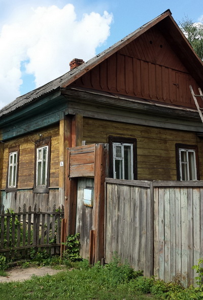 A house, typical of Southern Belarus in Bykhov
