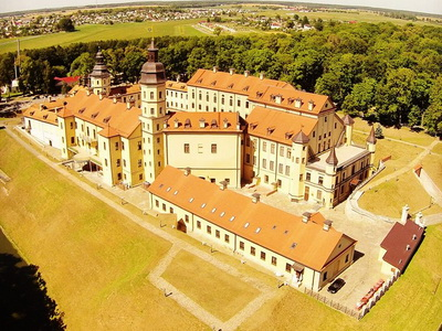 Nesvizh castle air view, Belarus tour package