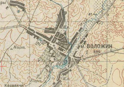 old russian map of volozhyn