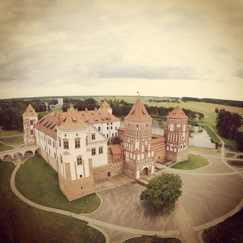 Mir Castle, air view